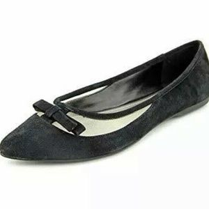 Bcbg Paris Zarine Black Flat French Suede Pointed